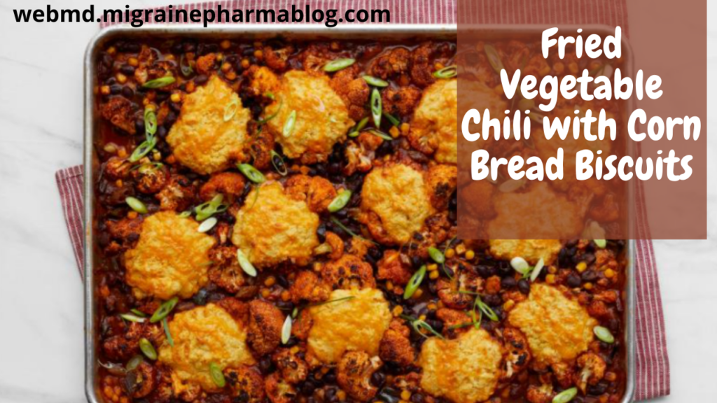 Fried Vegetable Chili with Corn Bread Biscuits